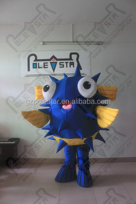 customized blue fish mascot costumes