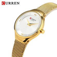 Часы CURREN женские, кварцевые, водонепроницаемые, из нержавеющей стали(Китай)