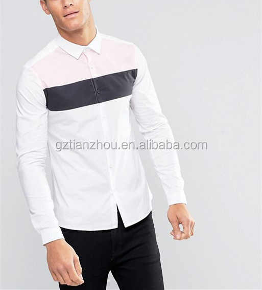 China Supplier Hot New Design Slim Fit Shirt Casual Fashion Shirt With Cut And Sew