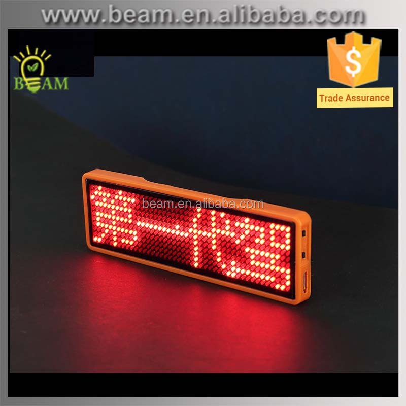 LED name card Badge,led mini board ,led running messge displays
