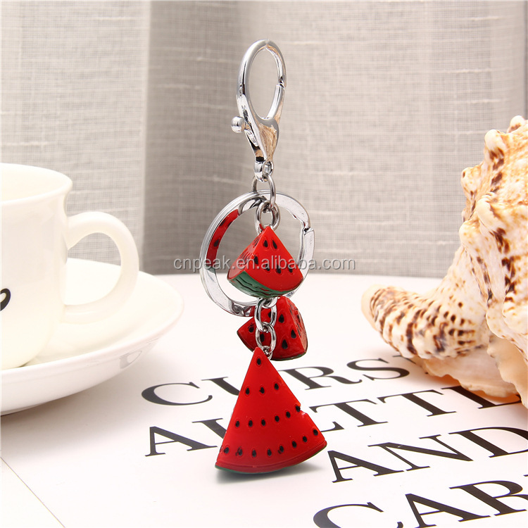 2018 newest popular creative imitation fruit resin material key chain