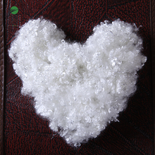 White chemical micro 3d recycled polyester fiber