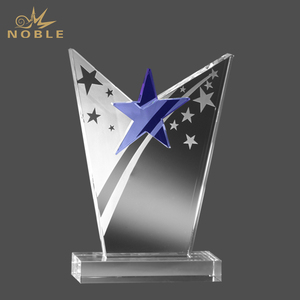Custom Victorious Star Award Trophy Wholesale Crystal Crafts