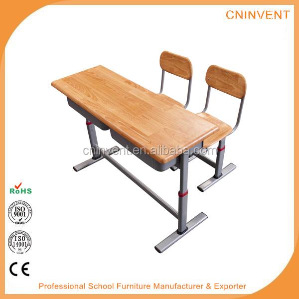School Furniture Adjustable Height Double School Desk Chairs Buy