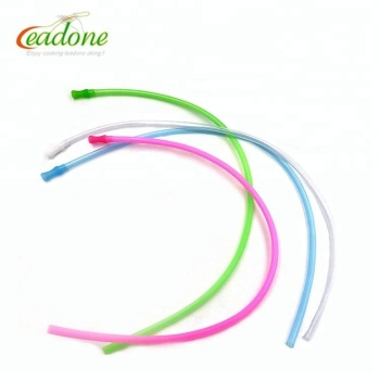 Hot Sale Reusable Folding Colorful Crazy Silicone Drinking Straw