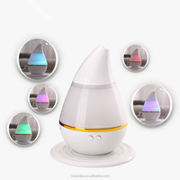 water drop shape cool mist ultrasonic humidifier no noise aroma diffuser