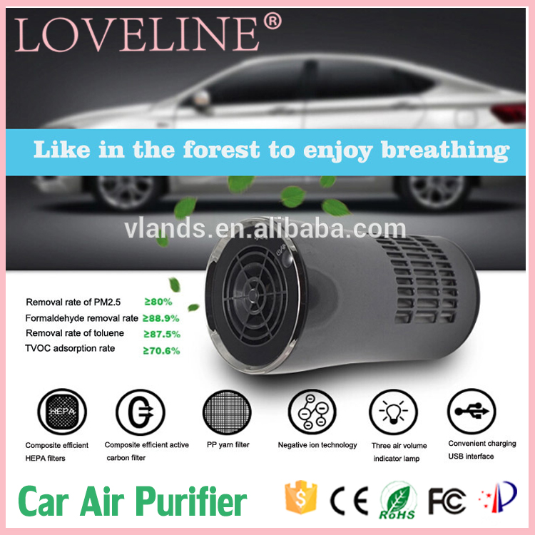Best quality Fresh Oxygen Bar portable air purifier for car use