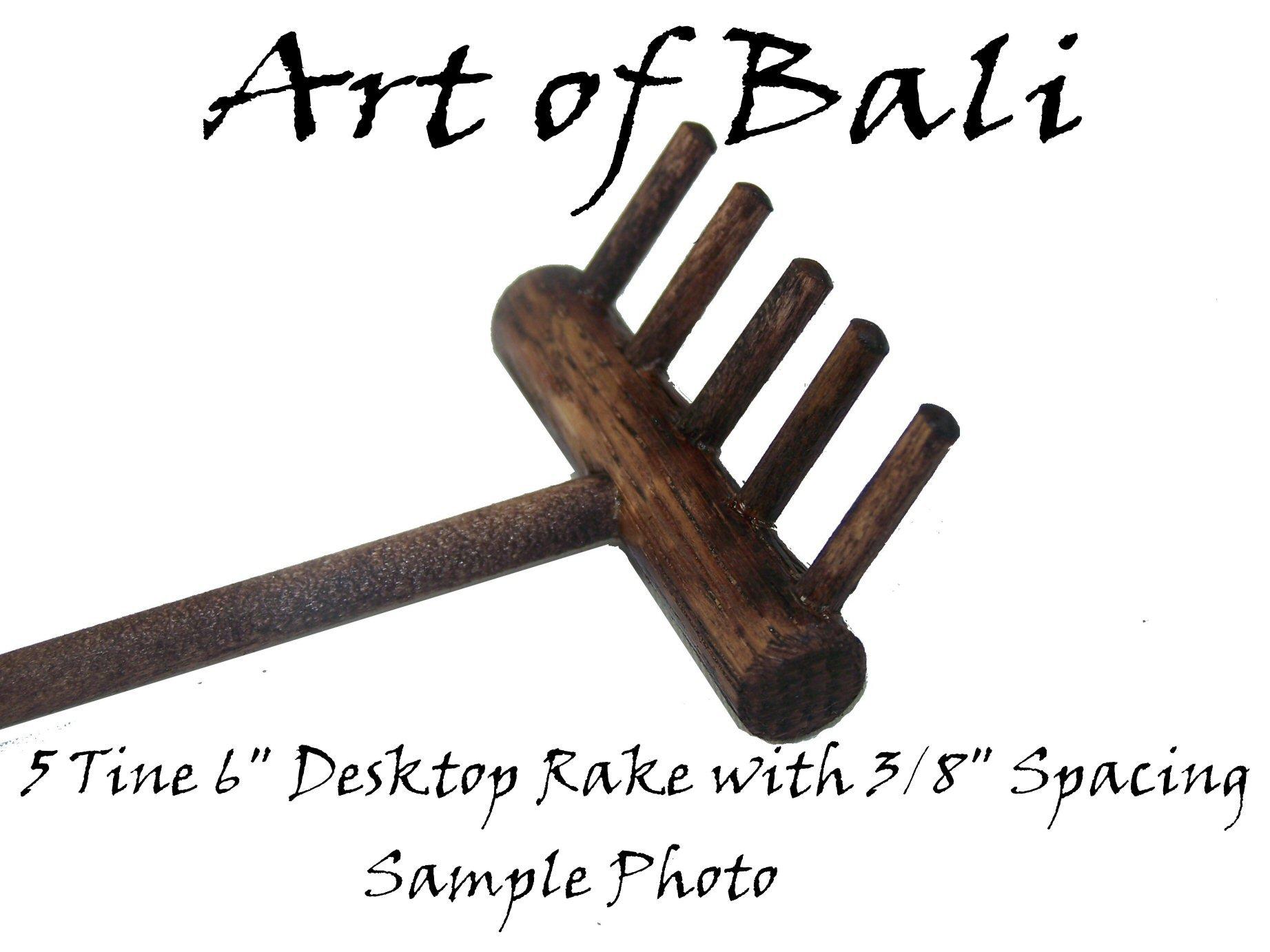 Art of Bali Zen Garden Rake Five Tine Desktop Rake - Zen Gardens