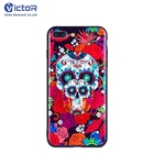 Stylish Skull Collapsible Holder Mobile Cover Phone Case for iPhone 7/8 Plus