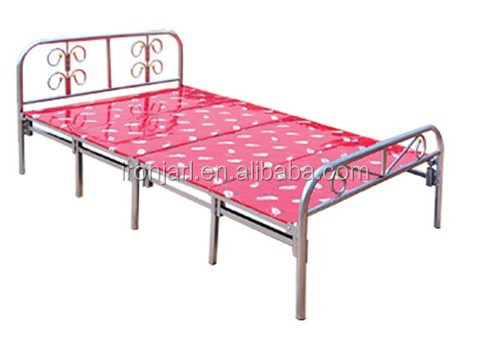 Home Office Camping Usde Folding Metal Framed Single Bed