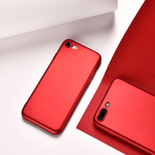 Beautiful Fashion Red Color Soft Silicone Phone Cases For iPhone 7 Red Cases and Covers Flexible