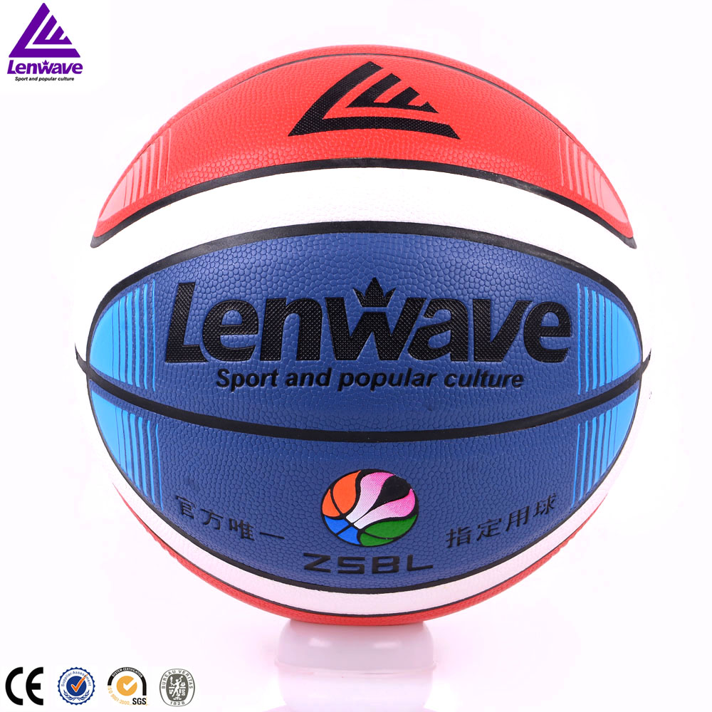 Lenwave brand new design rubber bladder custom printed basketball