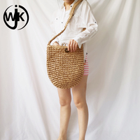 2019 newest style popular straw bag crossbody special customize straw shoulder bag wholesale price designer handmade straw bag