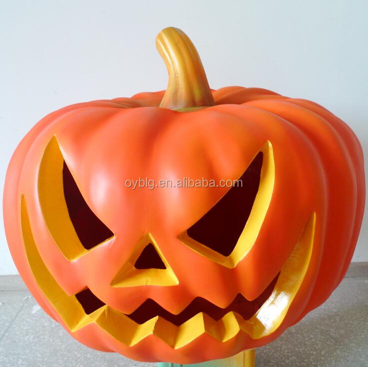 halloween pumpkin head fibreglass giant pumpkin cutout for halloween