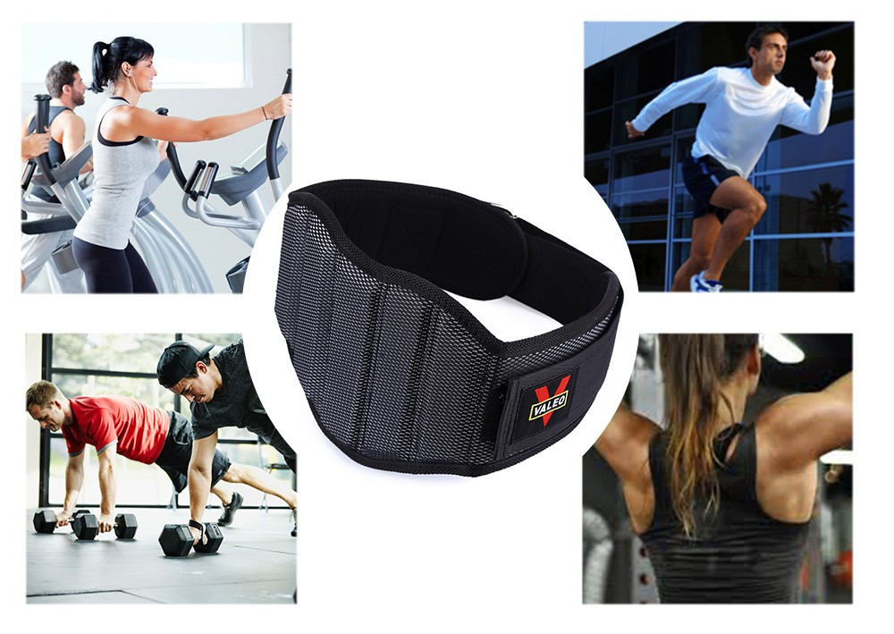 VALEO Hi-density Sponge Nylon <strong>Weight</strong> Lifting Squat Waist Belt Man Breathable Lumbar Gym Fitness Strap Padding Guard Back Protect
