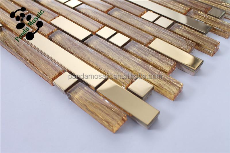 Smj self adhesive wall tile linear backsplash glass