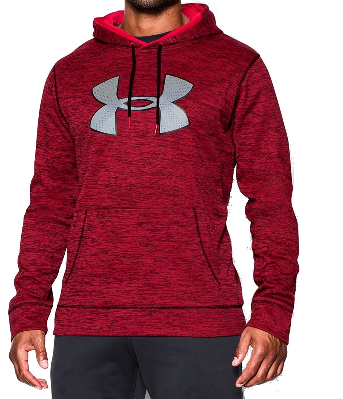 Under Armour Storm Mens Big Logo Twist Hoodie Sweatshirt Red Black Medium 4e6a30c2a