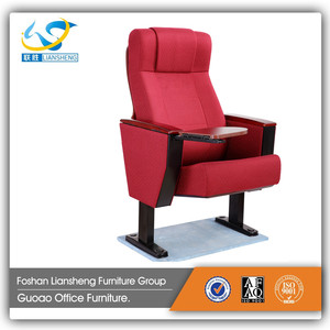 Latest design luxury theater cinema wooden chair discount auditorium seating LS-33