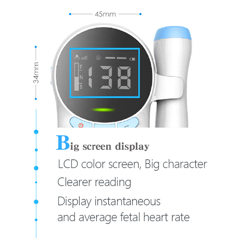 Wholesale Portable Baby Heartbeat Doppler Fetal Monitor