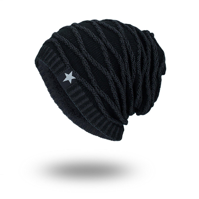 d80928fae7e Gome-z Winter Autumn Beanies Hat Unisex Warm Soft Skull Knitting Cap Hats  Star Caps