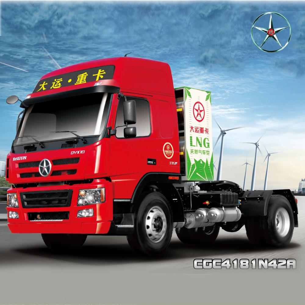 LNG truck DAYUN N8 4*2 tractor truck tractor camion with 336HP heavy trucks for sale