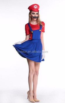 Halloween Super Mario Costume Disfraces Adultos Carnival Costume Adults Women Anime Cosplay Super Mario Bros.  sc 1 st  Alibaba Wholesale & Halloween Super Mario Costume Disfraces Adultos Carnival Costume ...