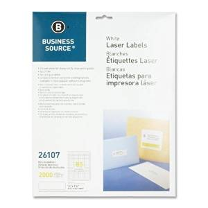 "Business Source Mailing Labels,Return Address,Laser,1/2""X1-3/4"",2000/Pk,We - Business Source Mailing Labels,Return Address,Laser,1/2""X1-3/4"",2000/Pk,Weuse Labels To Address Envelopes And Packages. La"