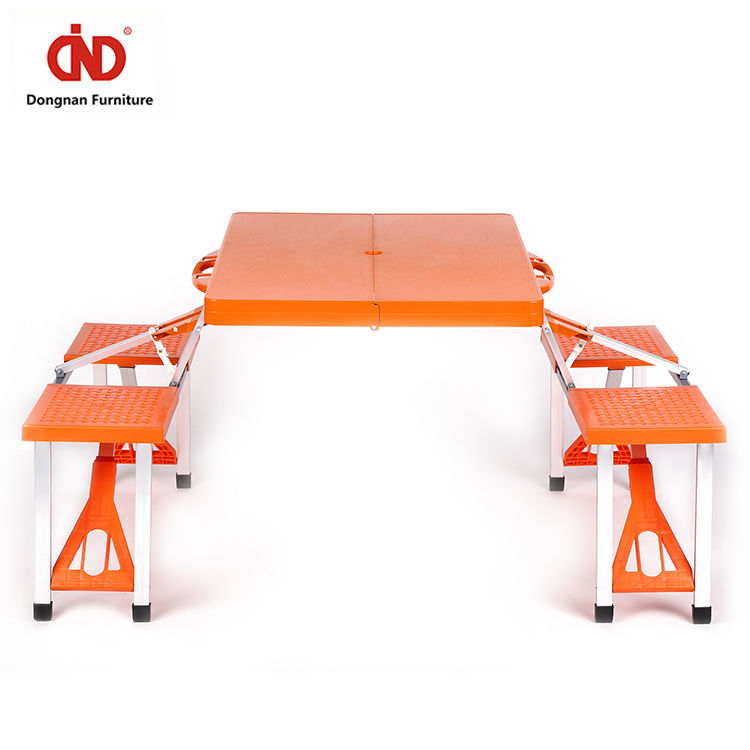 Fashion Designer Excellent Material Folding Portable Picnic Tables Table And Bench Aluminum Alloy