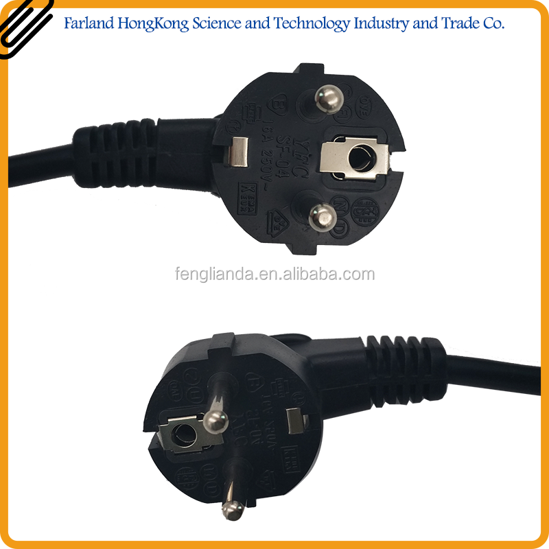 factory wholesale european standard ac 2 pin electric power plug CE Certification