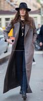 Ladies plain black wool with dark grey bend fashion small hat