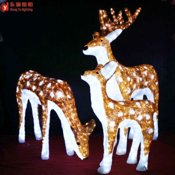 christmas outdoor decoration animated led christmas reindeer