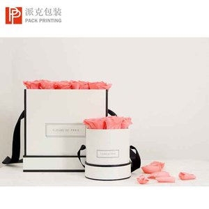 High quality waterproof black and white paper flowers packaging preserved roses boxes