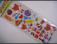 2017 New Design Promotion Pretty Cartoon Cute School Office Supplies Cartoon Puffy foam glitter sticker