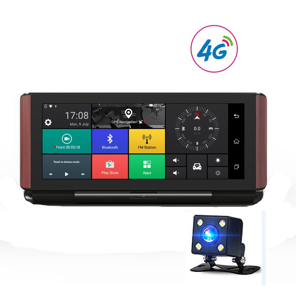 gps navigation 7 inch Touch Screen Android 5.0 WIFI 1080P Video Recorder 3G 4G G-Sensor 1GB RAM 16GB ROM BT