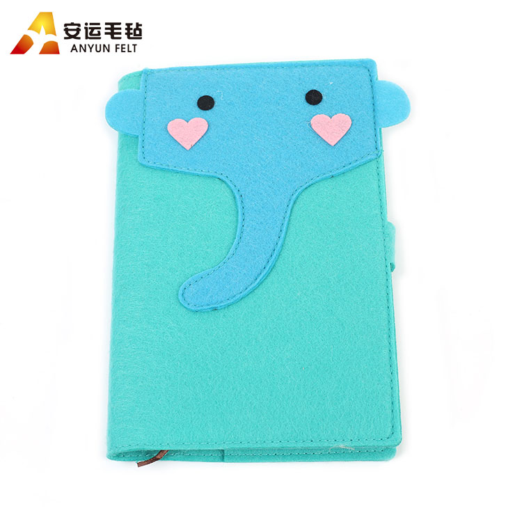 Wholesale fashionable design good quality felt fabric book cover
