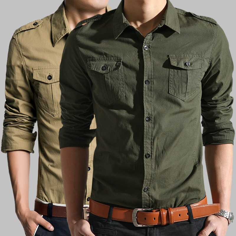 Military Style Dress Shirt2016 Latest Shirts For Men100% Cotton Western Style Dress Shirt ...