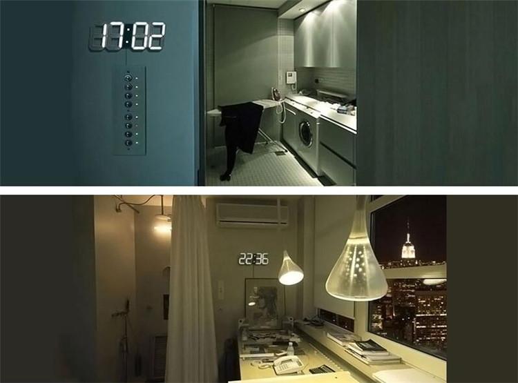 DIY Large Display Remote 3D LED Digital Wall Clock Timer