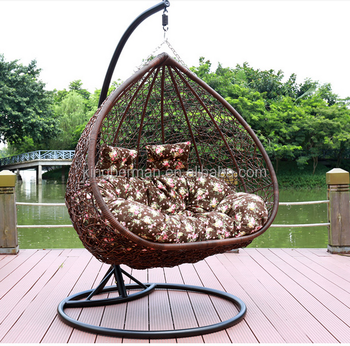 Modern Patio Outdoor Swing Chairs Rattan Hammock Chair Outdoor