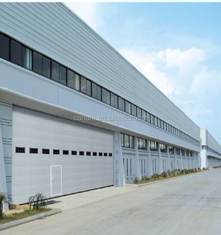 Security steel sliding aircraft hangar door