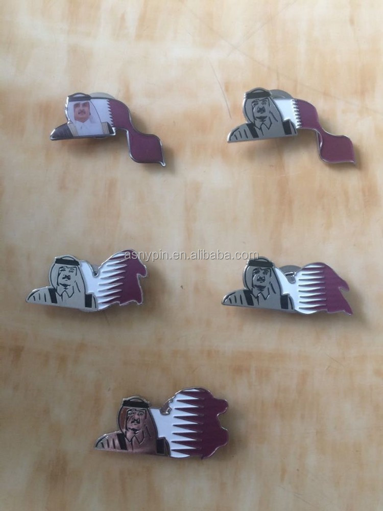 Qatar Emir Enamel National Magnetic Lapel Pin, National Flag Pins