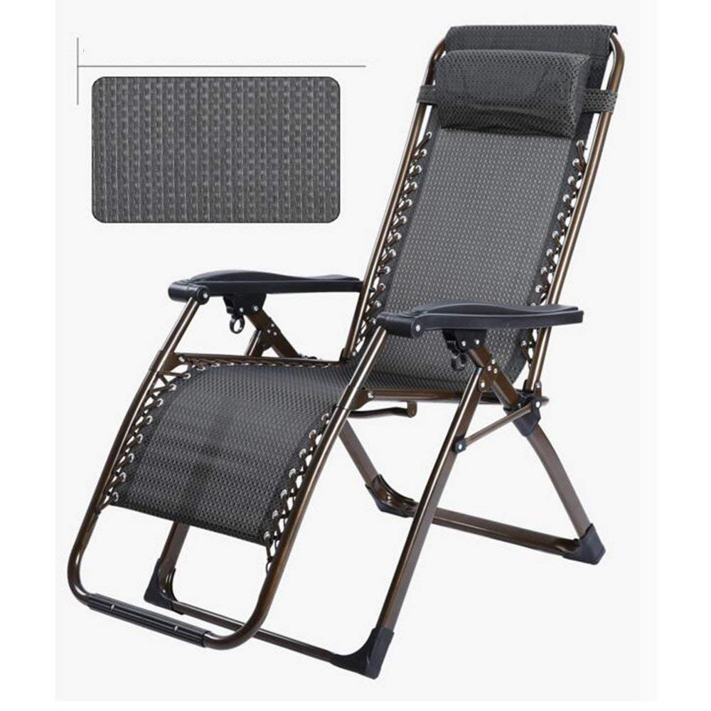 Rocking Chairs MEIDUO Zero Gravity Chair Recliners Folding Chair Lunch Break Fold Lying Siesta Lounge Chair Backrest Chair (Color : B)