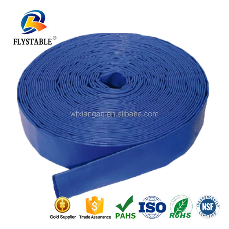 Gold supplier china Cheap PVC lay flat drain Farm Discharge irrigation Water Hose