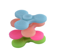New 2~3 leaves Silicone Hand Spinner Luminous Hand Spinner Tri Fidget EDC Focus Desk Toy for Kids/Adults
