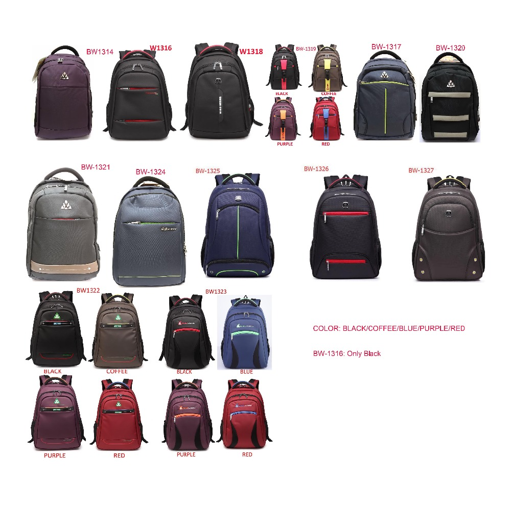 BiaoWang Brand 1314-1316-1317-1318-1319-1320-1321-1322-1323-1324-1325-1326 Black Blue Coffee Purple Red Backpack
