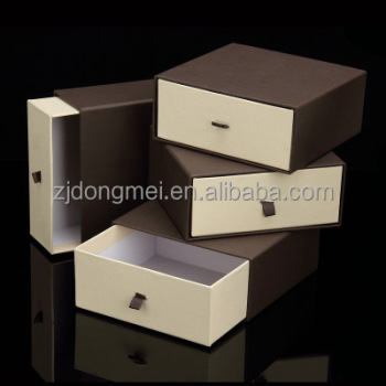 wholesale luxury different color custom size printing logo drawer box lu custom logo printed jewelry boxes luxury dm jewelry box