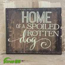 Shabby Chic Decorative Wall Pet Wooden Sign,Handmade Pallet Wood Table Display Sign,Vintage Custom Pub Holder