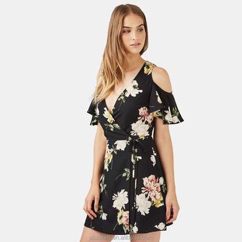 8c73a3033 El Último Vestido De Diseños Para Damas Floral Mini Vestido Casual ...