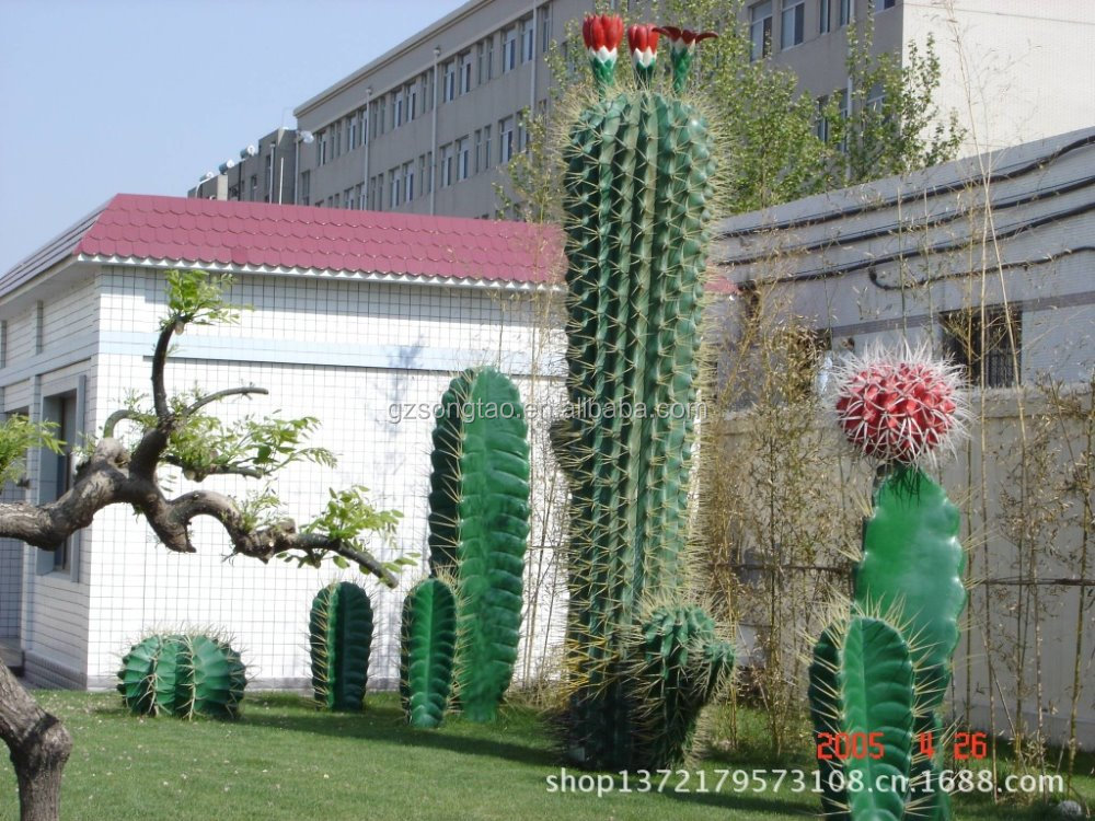 Hot Sale large artificial green cactus plant for decoration large artificial cactus