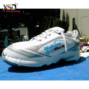 f15b3baad huge inflatable sneaker replica model / inflatable white gym shoes for sale