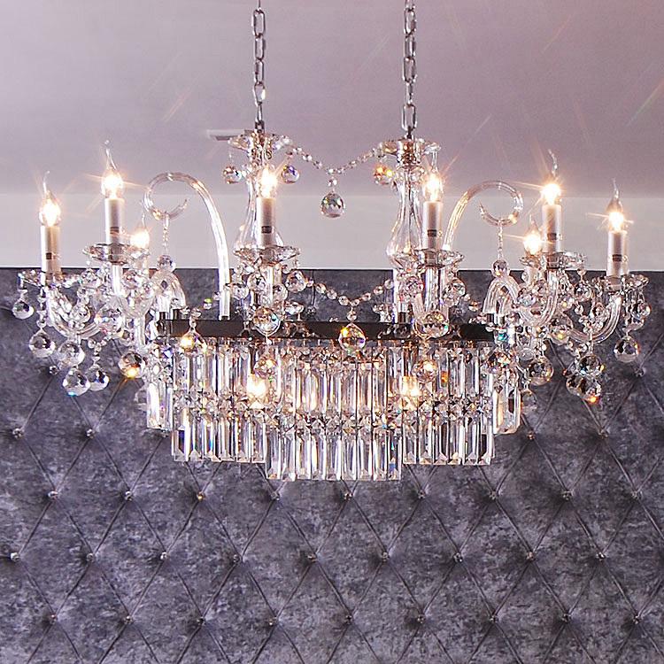 Idea Led Lighting Colorful Big Luxury Crystal Chandelier
